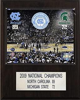 NCAA Basketball North Carolina 2009 Basketball Champions Plaque