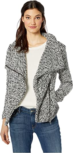 Textured Multicolor Black/White Jacket in Friend Zone