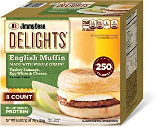 Jimmy Dean, Delights Turkey Sausage, Egg & Cheese English Muffin, 8 ct (frozen)