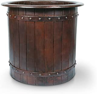 Japanese Style Soaker Hammered Copper Bathtub