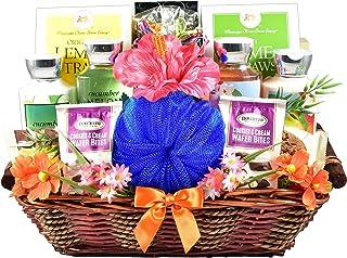 Gift Basket Village Just Beachy, Tropical Spa & Gourmet Gift Basket - A Summer Gift Basket For Women - Bring The Tropics T...