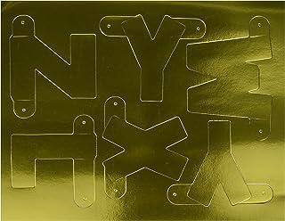 Beistle Gold Designer Letter and Number Kit, 41/2-Inch