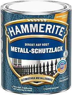 HAMMERITE AKZO NOBEL DIY HAMMERITE 5087601 Metallschutzlack Metall-Schutz Rostschutz-Farbe 2in1 Hammerschlag, dunkelblau, 750ml