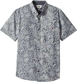 VISSLA Kids - Fakarava Short Sleeve Printed Woven (Big Kids)