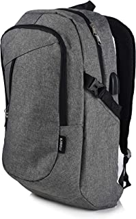 Laptop Travel Backpack - Adjustable Shoulder Straps, Zippered Compartments with Side Pockets for Water Bottle or Umbrella. Headset and USB Charging Port. Perfect for School, Business or Traveling.