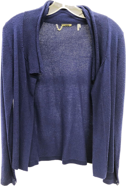 Elie Tahari E86XA542 Sweater Cardigan Blue Navy Size Extra Small