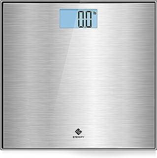 مقیاس حمام وزن دیجیتال Etekcity با مقیاس فولاد ضد زنگ ، مرحله به مرحله و خودکار صفر / روشن / خاموش ، نمایشگر LCD دارای نور پس زمینه ، 400 پوند