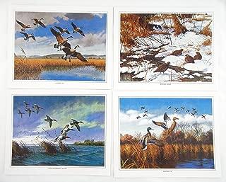 Vintage David Maass Wilderness Wings Canvas Print Portfolio 242-140 4 Print Set