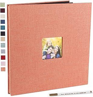 Vienrose Grand Album Photo Adhésif Scrapbooking 40 Pages Magnétiques Double Face Lin Relié Livre Photo DIY Longueur 33 x L...