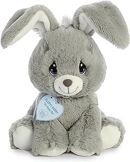 "Aurora Precious Moments Plush 8.5"" Floppy Bunny, Grey"