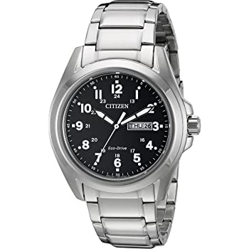 Citizen Men's Eco-Drive Stainless Steel Watch with Day/Date, AW0050-82E