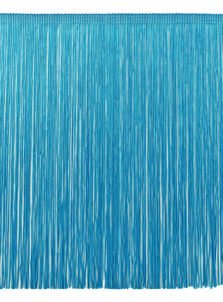 DecoPro 11 Yard Value Pack of 12 Inch Chainette Fringe Trim, Style# CF12 Color: Turquoise - 04 (32.5 Feet / 10M)