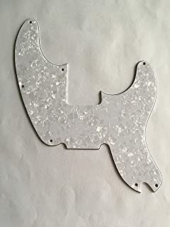 Custom For Fender Telecaster Precision Bass Electric Guitar Pickguard (4 Ply White Pearl)