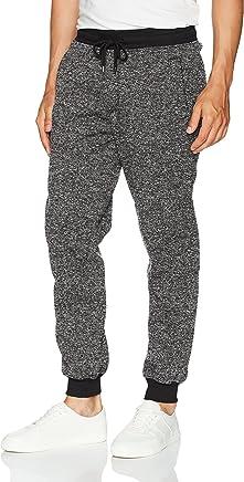Southpole Men's Basic Marled Fleece Jogger Pants