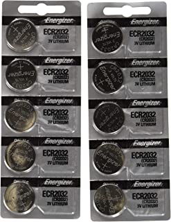 Energizer CR2032 3 Volt Lithium Coin Battery 10 Pack (2×5 Pack) In Original Packaging