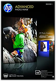 HP Q8692A 10 x 15 cm Advanced Glossy Photo Paper, Borderless, 250 GSM, 100 Sheets