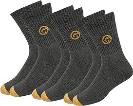 جوارب GLINTO الرجالية الممتازة من القطن المبطن (3 أو 6 حزم، مقاس واحد)