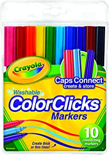 10 Color Clicks Connecting Markers, Washable, Drawing, Pens, Colouring, Education, Project, Booklist, Classroom, School