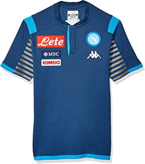 Ssc Napoli Italian Serie A Men's Representation Polo, Blue, XXL