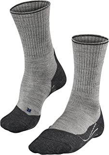 FALKE Men's TK2 Wool Silk Hiking Socks - Merino Wool Blend, In Grey or Dark Grey, UK sizes 5.5-12.5 (EU 39-48), 1 Pair - C...