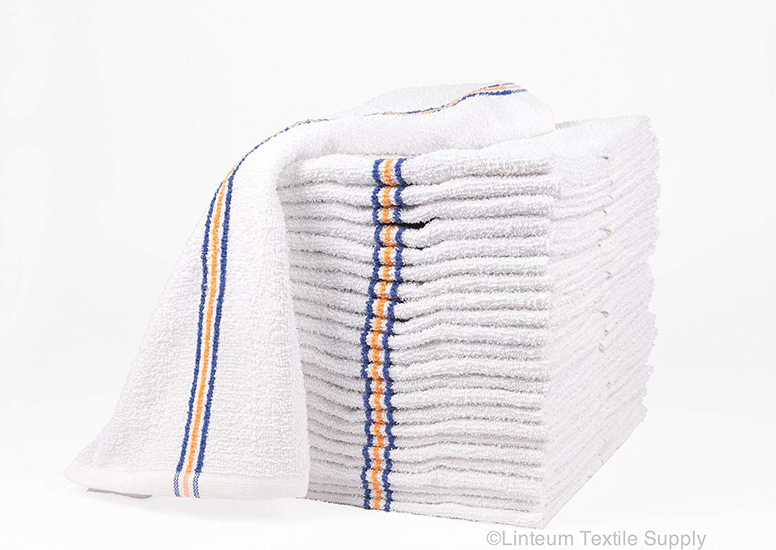 Linteum Textile 24 Pack 16x19 In Cotton Bar Towels Super MOPS Kitchen Towels Strong Durable