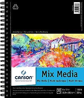 لوحة ورقية مختلطة الوسائط الرطبة أو الجافة من سلسلة أرتيست من كانسون 9 × 12 بوصة 400059774