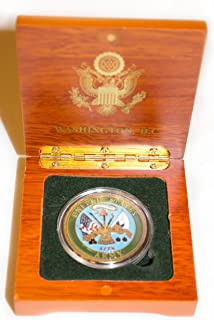 Definitely Different U.S. Army Coin in Wood Box - Collectible