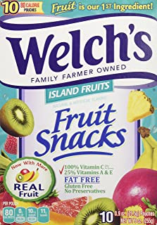 Welch's Island Fruits Fruit Snacks 9 oz (Pack of 10)