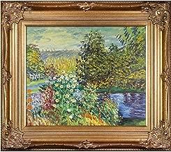 overstockArt Corner of The Garden at Montgeron by Claude Monet Canvas Art, Renaissance Bronze Frame/Finish