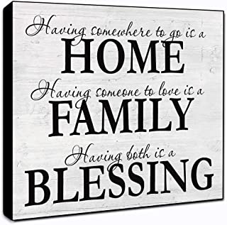 LACOFFIO Home Family Blessing Wood Wall Decor Sign 6×6 Housewarming Gift Idea