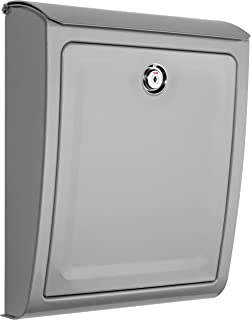 Architectural Mailboxes 2596SR Sienna Silver Locking Wall Mount Mailbox, Medium