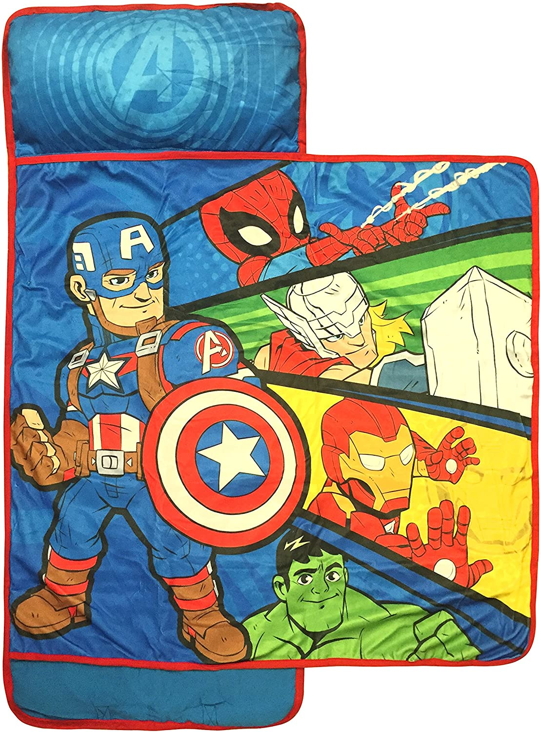 Marvel 70% OFF Outlet Super Hero Adventures Avengers Built-in Mat Miami Mall Pillow Nap -