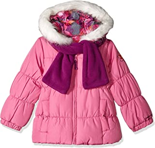 Girls' Winter Coat with Scarf & Hat