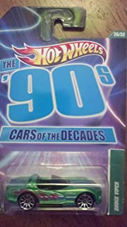 HOT WHEELS CARS OF THE DECADES THE 90'S DODGE VIPER