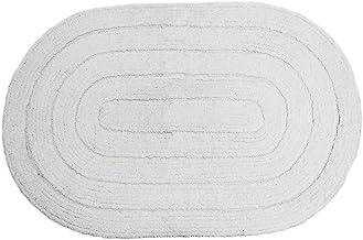 Tapete Allegro Oval Kapazi 100% Algodão Branco Importação