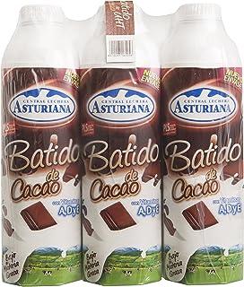 Central Lechera Asturiana Batido Cacao - Paquete de 6 x 1000 ml - Total: 6000