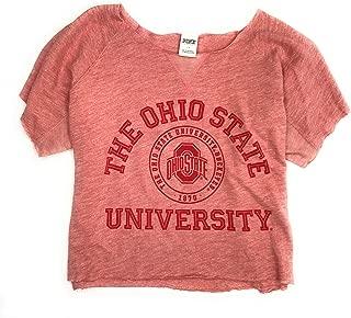 Victoria's Secret Women's Ohio State University Buckeyes Sweatshirt Distressed Cropped Raw Hem Large