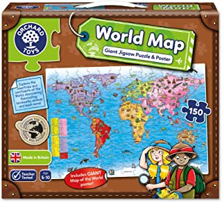 Orchard Toys - World Map Puzzle & Poster jigsaws