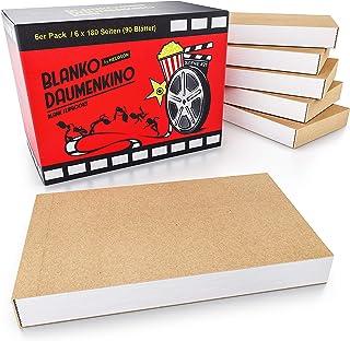 HELDSON Premium Daumenkino Blanko Set 6er Pack mit je 180 Seiten Flipbook Kit Set mit hochwertiger und Stabiler Bindung- Daumenkino Kinder Mitgebsel