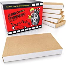 HELDSON® Premium Daumenkino Blanko Set 6er Pack mit je 180