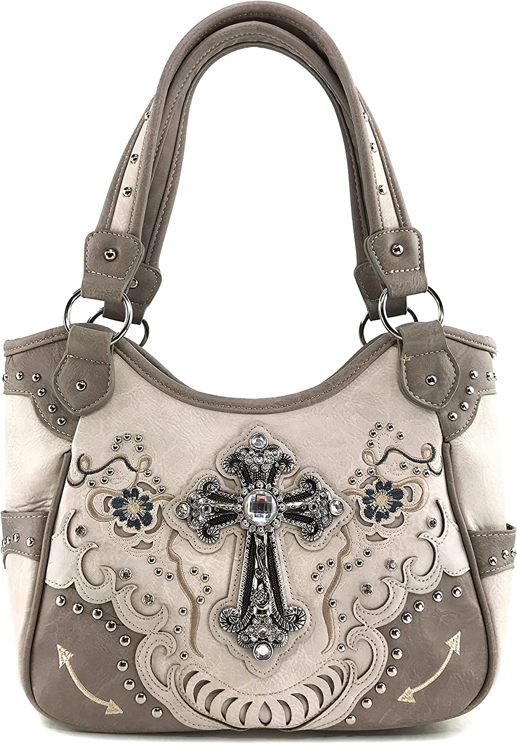 Justin West Cross Limited time sale Floral Embroidered CCW Studded Carry Now on sale Concealed