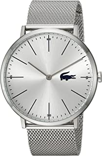 Lacoste Men's Moon Quartz Watch with Stainless-Steel Strap, Silver, 20 (Model: 2010901)