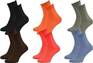 Rainbow Socks, Hombre Mujer Calcetines Colores de Bambu