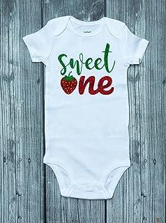Strawberry bodysuit - birthday shirt - sweet one - Berry Sweet - strawberry romper - birthday outfit - berry shirt - strawberry - strawberry party - strawberry birthday