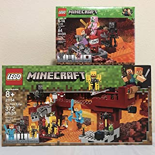 LEGO Minecraft The Blaze Bridge & LEGO Minecraft The Nether Fight