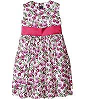 Oscar de la Renta Childrenswear - Spring Pansies Cotton Party Dress (Toddler/Little Kids/Big Kids)