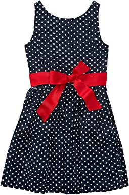 Polo Ralph Lauren Kids - Dotted Twill Button Back Dress (Little Kids)