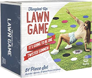 Wembley Tangled Up Lawn Game, Jumbo Outdoor Games for Teens and Adults, Spinner and Colorful Balance Pieces, Backyard, Park, Picnic or Camping, Classic Party Fun, Active Play All Summer Long