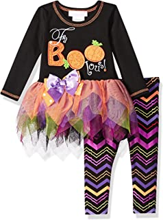 Bonnie Baby Baby Girls Appliqued Tutu Dress and Legging Set