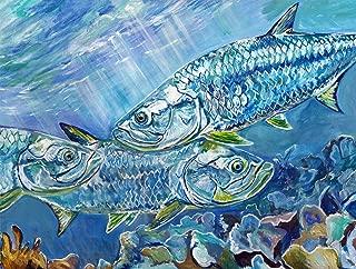 Tarpon Wall Art Print, Fishing Gift Idea, Tarpon Fishing Artwork Hand Signed By Jack Tarpon,